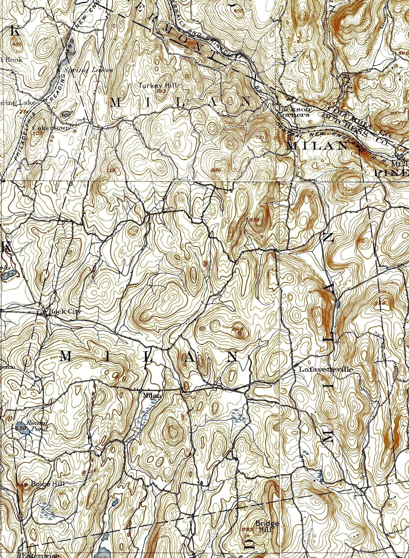 Milan map 1895 usgs milan ny history milan map 1895 usgs publicscrutiny Images