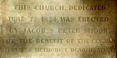 This dedication stone was jut below the central front window, not at Town Hall.