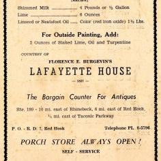 Lafayette House ad, undated.