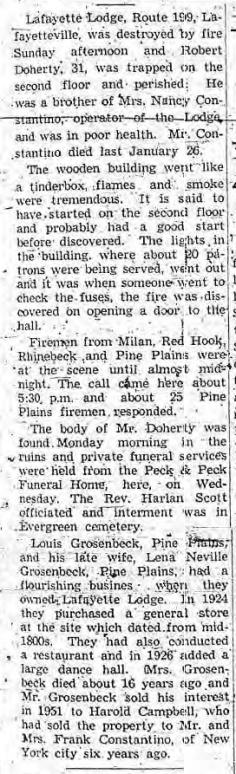 Lafayette Lodge fire 1960.