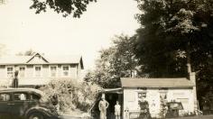 Mr. Juchem and Fred Wilcox, Jr., Lafeyetteville c. 1931.
