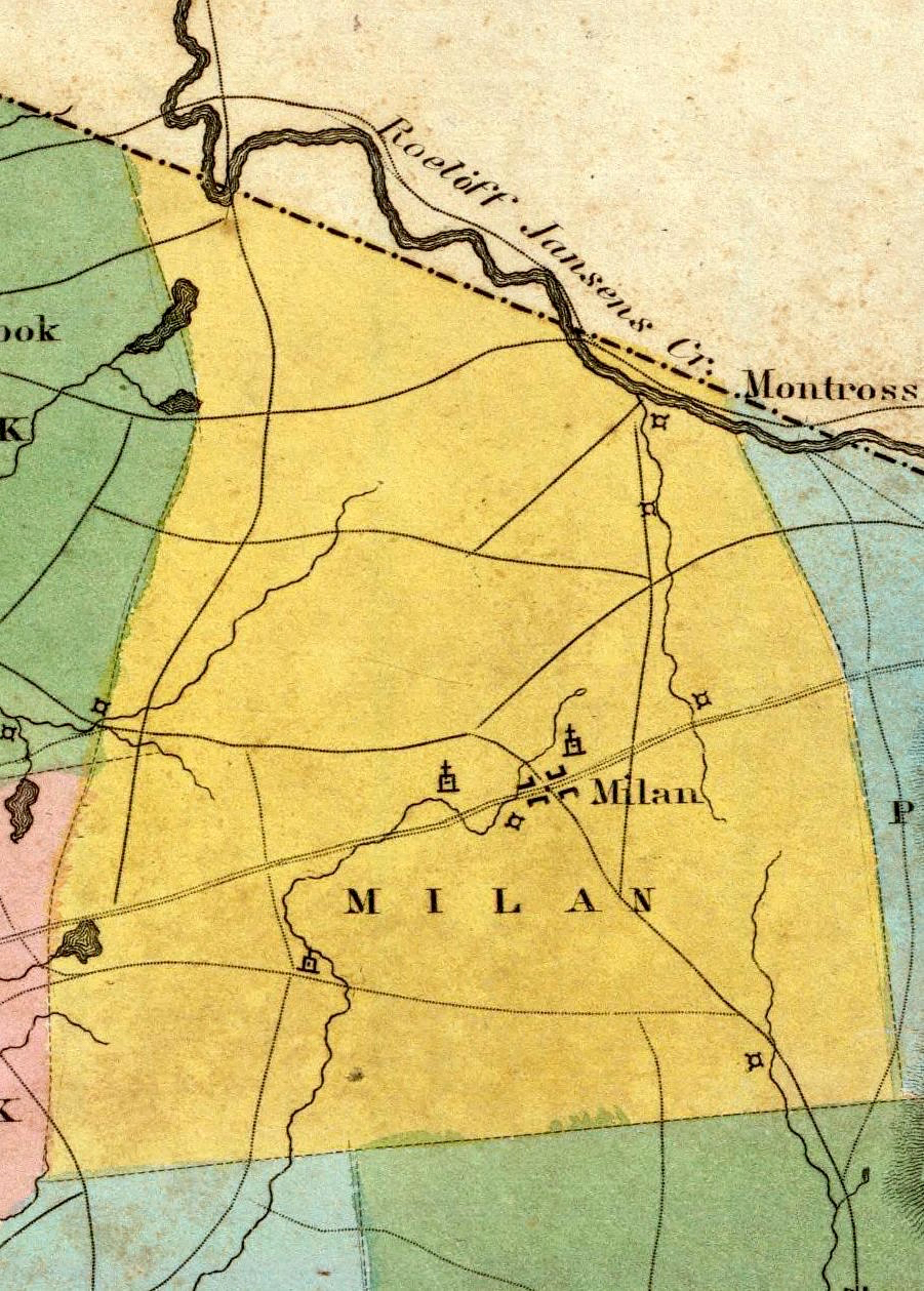 1829 burr milan 1mb milan ny history churches left to right milan hollow christian connexion rowe methodist unsure of third church at right above milan this 1829 map supports the idea publicscrutiny Images