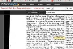 Name change to Cokertown May 1897.