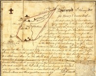 1810 Survey of area now known as Rock City. Image courtesy Alice Clarke Benson, Martin and Bill Clark, the Schultz/Cookingham Family Collection.
